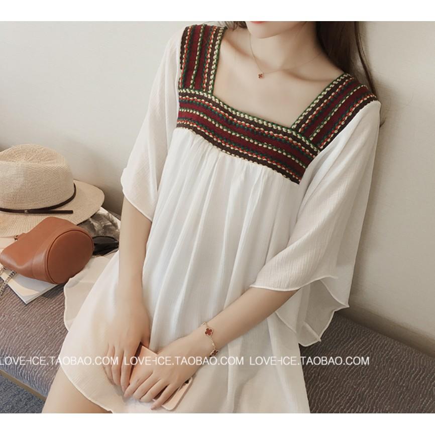 、 拍攝浪漫民族風雪紡麻洋裝小禮服大 洋裝限定款M 、L 、XL 、2XL 、3XL 、4