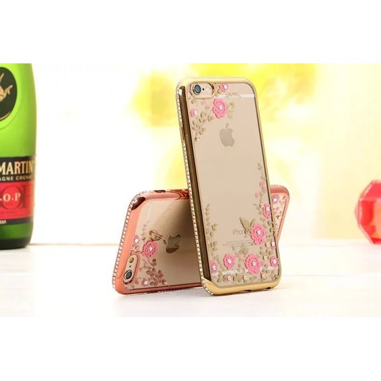 HS3C 蘋果i6 6s 6plus 手機殼iPhone 水鑽電鍍透明粉色軟殼手機套保護殼