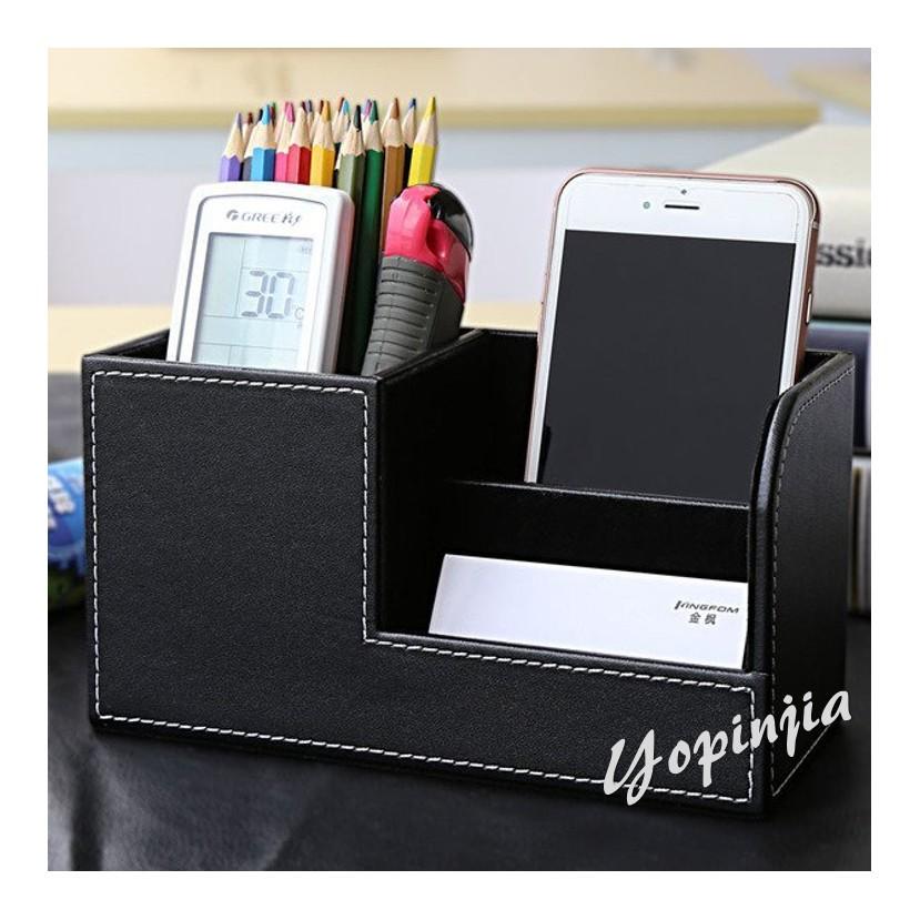 ~優品家 家居~yopinjia 商務多 皮革筆筒 辦公用品桌面遙控器收納盒辦公室文具