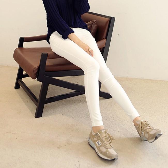 ~ ~實拍春夏薄款2016 孕婦白色打底褲修身顯瘦彈力鉛筆褲托腹小腳長褲