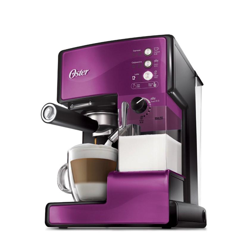 美國OSTER 奶泡大師義式咖啡機BVSTEM6602P PRO 升級版紫色款◤贈咖啡豆◢