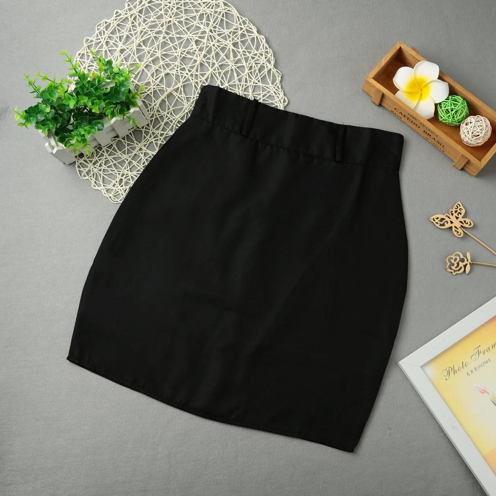 女裝 純色短裙拉鏈閉合OL 職業半身裙直筒裙包臀裙壹步A 字裙性感女性迷你短裙
