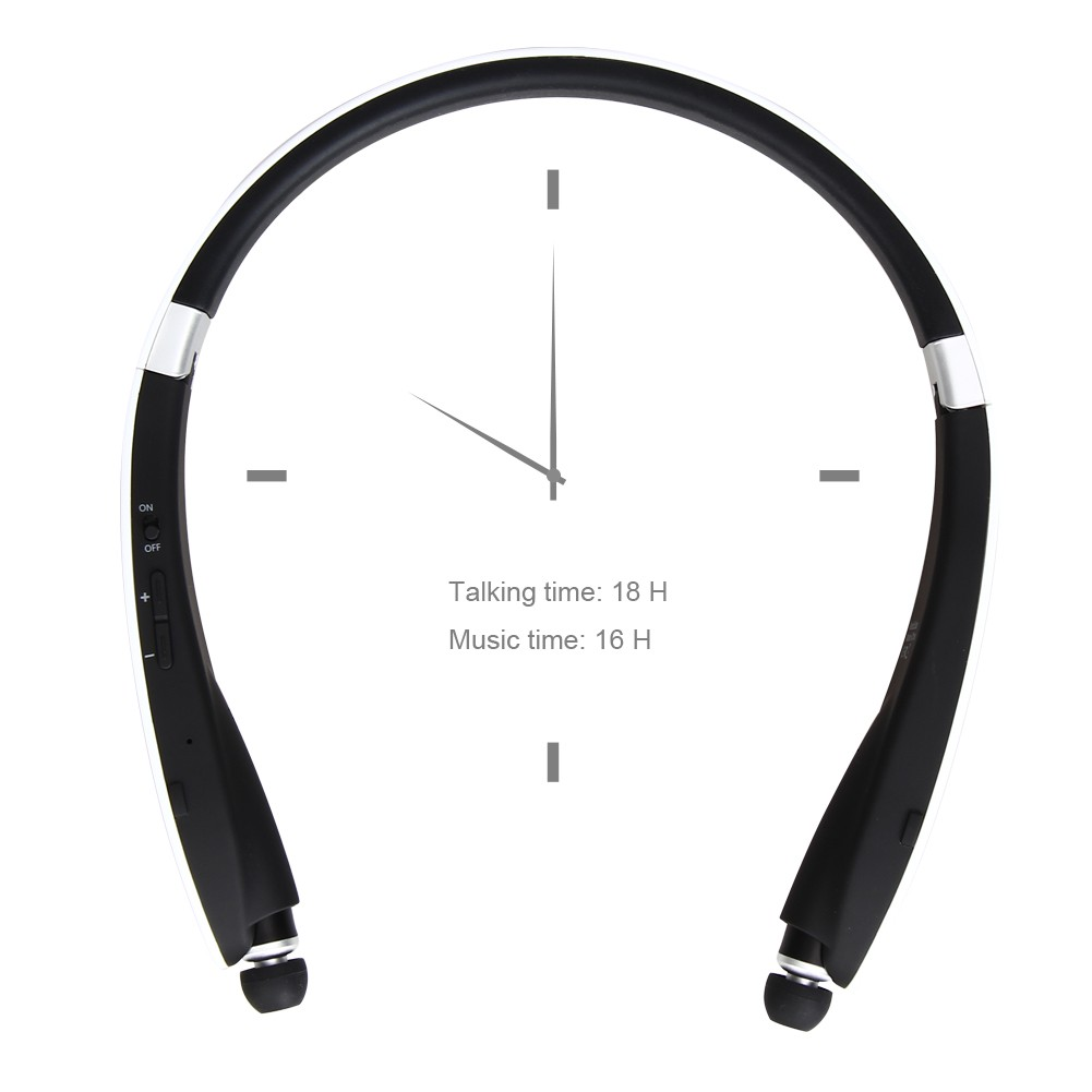 Vodool 4 0 藍牙耳機,可伸縮折疊式領口無線身歷聲耳機~ 蘋果