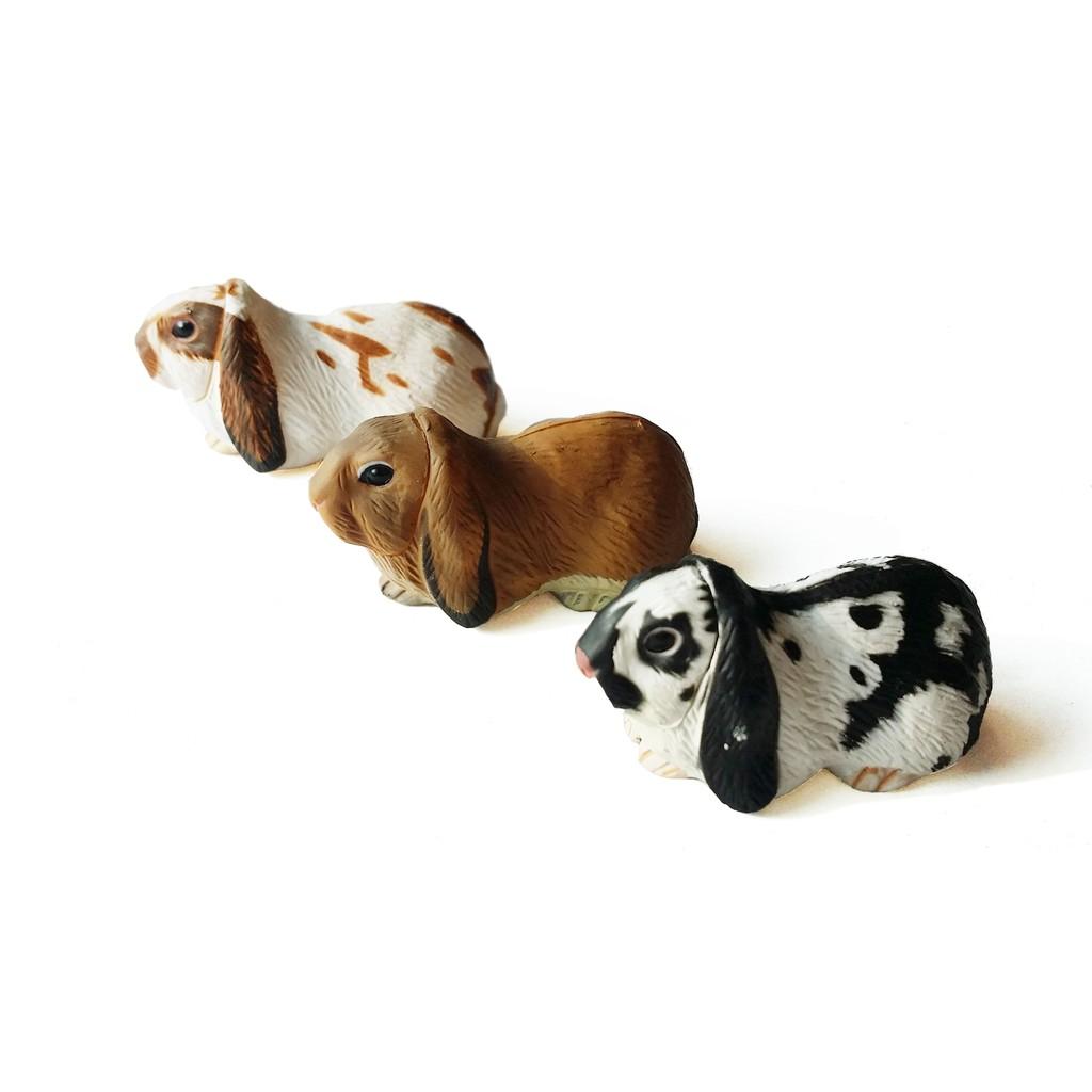 海洋堂絕版兔子垂耳兔模型轉蛋系列賣完就沒有摟