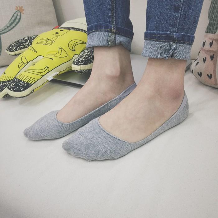 EVA EVA SHOP 新品韓國東大門薄款豆豆鞋防滑防脫跟純色短襪淺口隱形襪船型襪球鞋娃