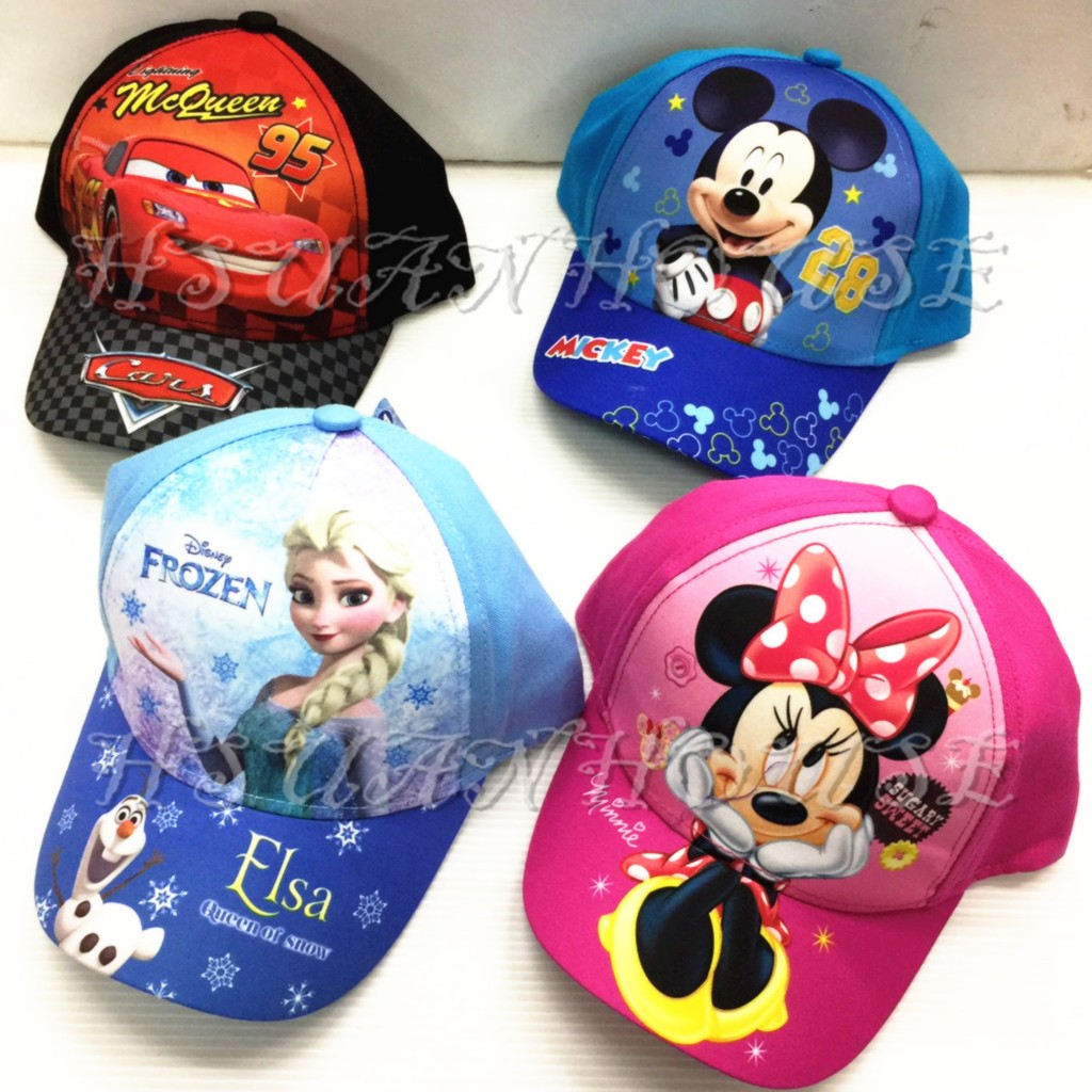 迪士尼 冰雪奇緣米奇米妮麥坤蘇菲亞帽子童帽遮陽帽