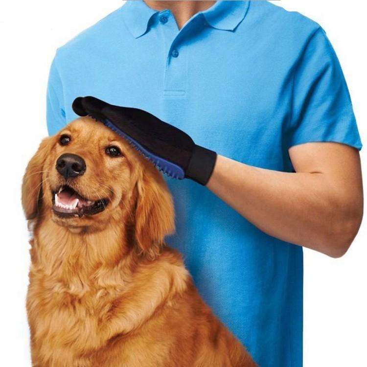 寵物洗澡手套寵物潔毛手套潔毛安撫2 用式毛髮清潔整理手套潔毛洗澡神奇寵物按摩除毛手套寵物梳