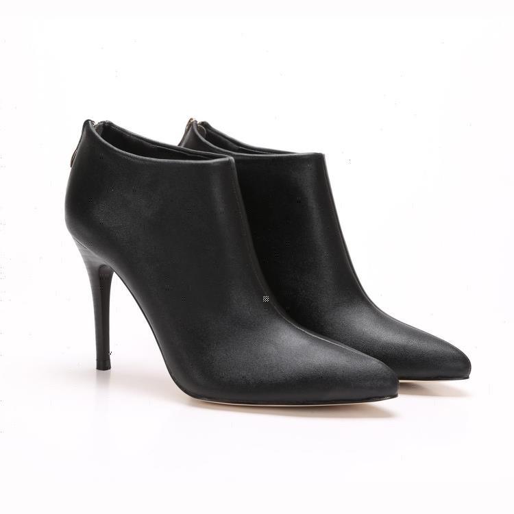MMC 爆款 復古雅痞龐克風氣質優雅真皮牛皮拉鍊 素面修身顯瘦百搭包頭尖頭踝靴跟靴高跟靴馬