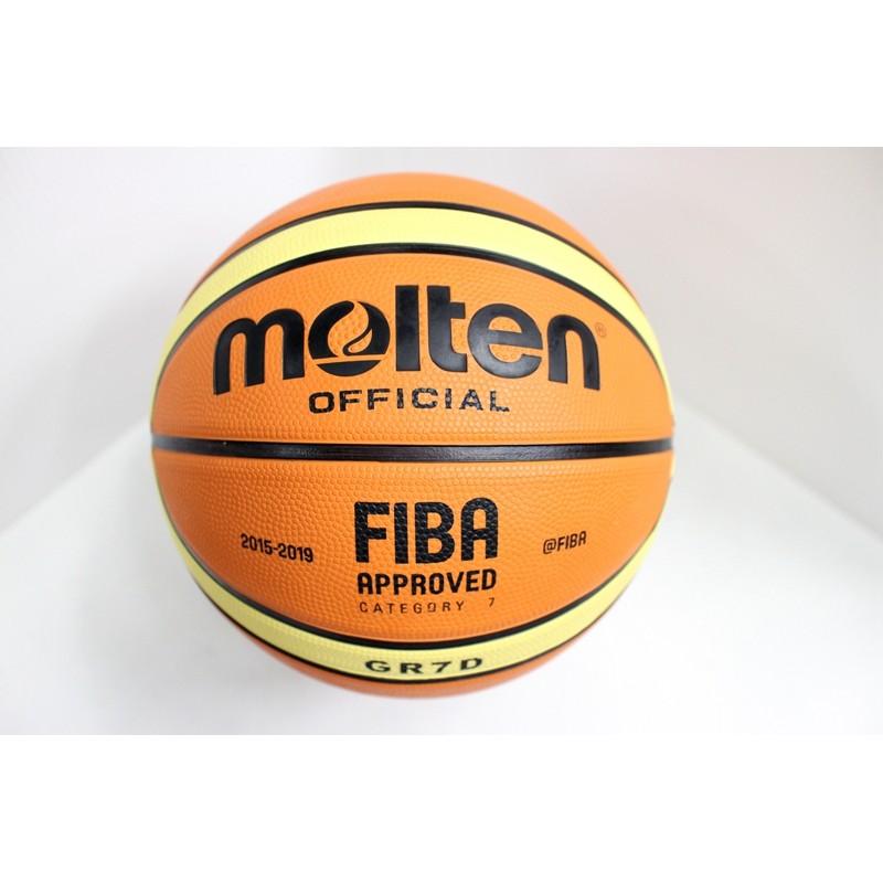 MOLTEN 12 片橡膠深溝BGR7D 7 號籃球室外籃球耐磨GR7D 淺橘色
