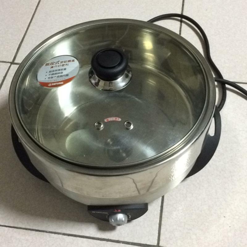 TATUNG 大同不鏽鋼煎炒煮炸悶電火鍋電磁爐TSB 4013SY