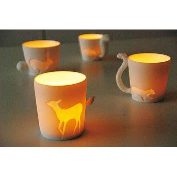 KINTO 童話森林陶瓷馬克杯可當燭台杯,種多肉 Y150 878