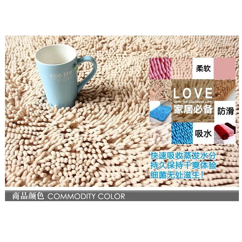 LoVus 雪尼爾超細纖維長毛粒子防滑地墊地毯吸水踏墊墊子