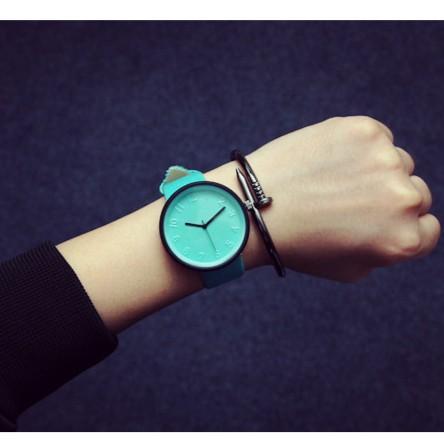 韓國 潮流休閒簡約 潮人原宿彩色果凍女生中學生手錶皮帶