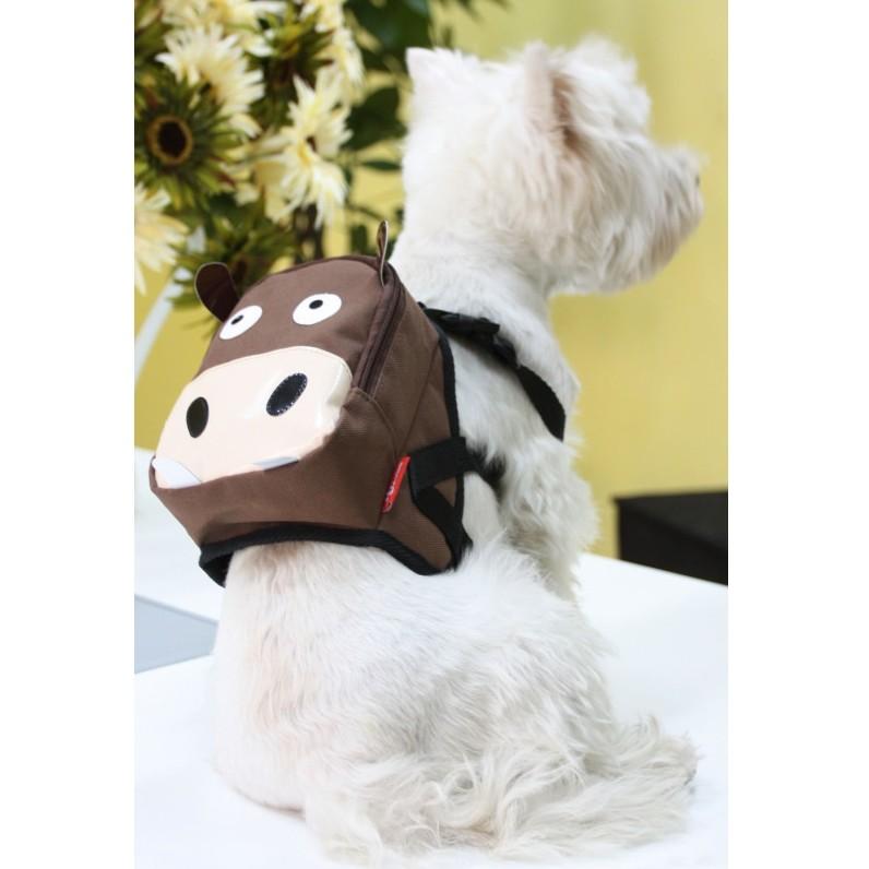 寵物自背包透氣書包超咖啡色河馬可愛上市, 數量有限喔