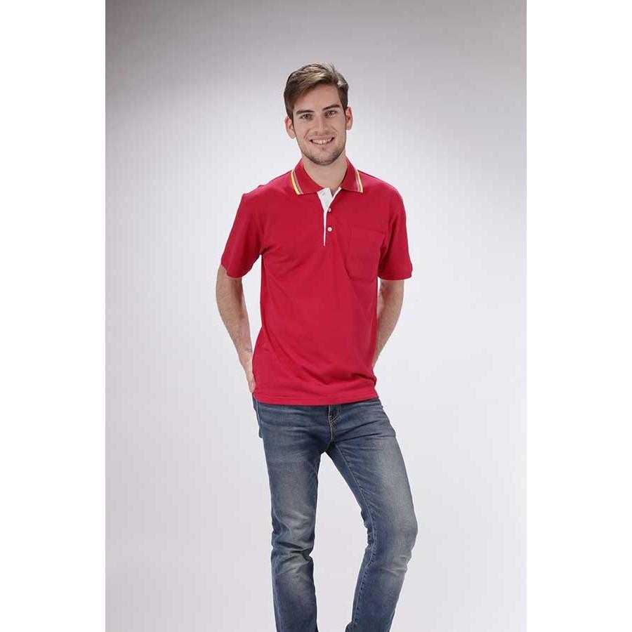 NEW 雙手1649 3 紅色吸濕排汗短袖POLO 衫男女可穿S 4L