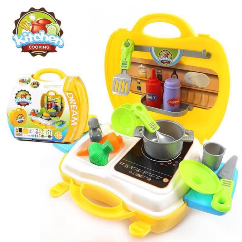✨SS TOYBAR 手提廚房組 廚具套小小廚師組仿真廚房玩具箱廚房遊戲家家酒兒童節過年