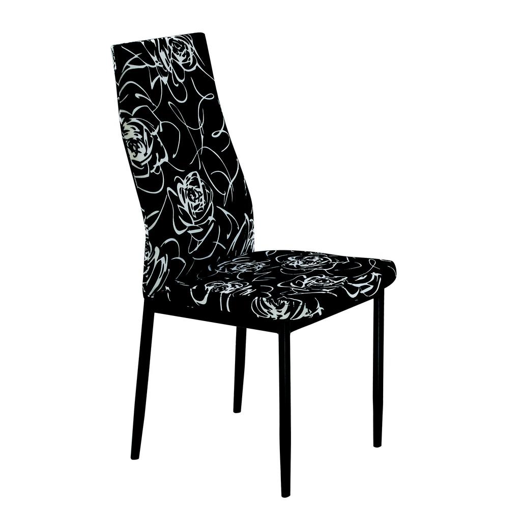 ~昱陽傢俱~曼菲斯黑布花餐椅房間椅居家椅會議椅書桌椅萬用椅洽談椅~桃園以北免 ~ 品