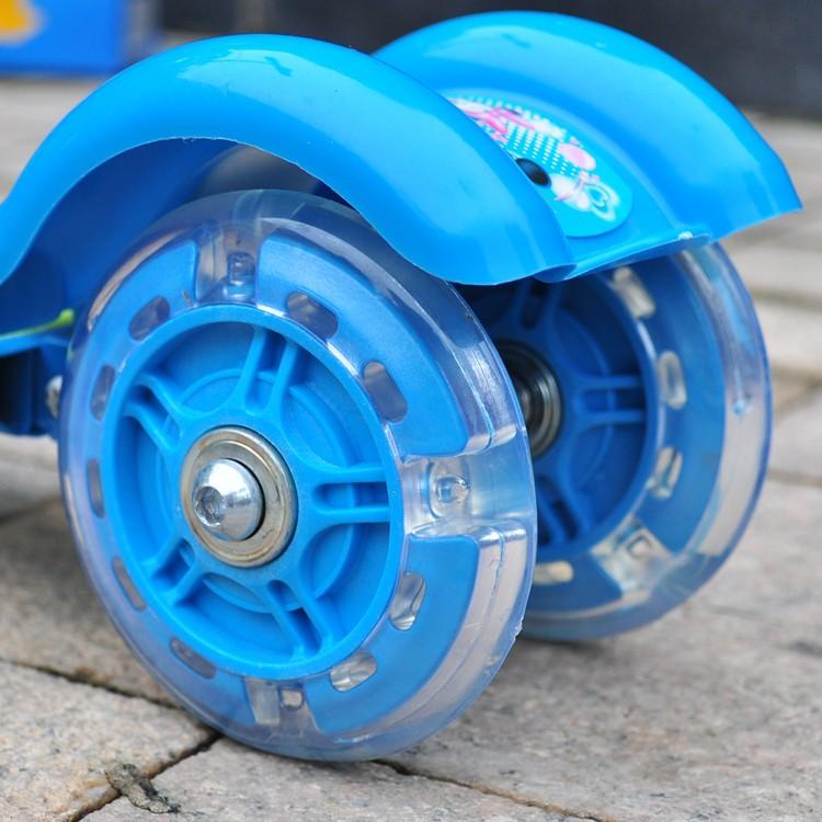 兒童車發光輪子9 5CM 7 6CM 靜音耐磨滑板車蛇板滑板扭扭車搖擺車輪子閃光