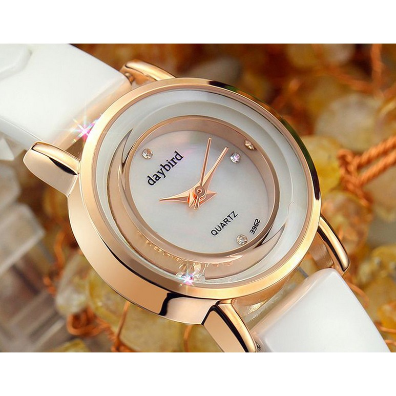 瑞士陶瓷女表白色 潮流水鑽鑲鑽石英表手錶女學生手鏈表