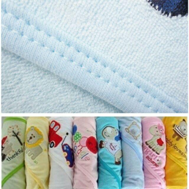 可挑款♡嬰兒毛巾布料包毯~喬治小丸子~新生兒出院女寶男寶(包巾,吸水 ,透氣)