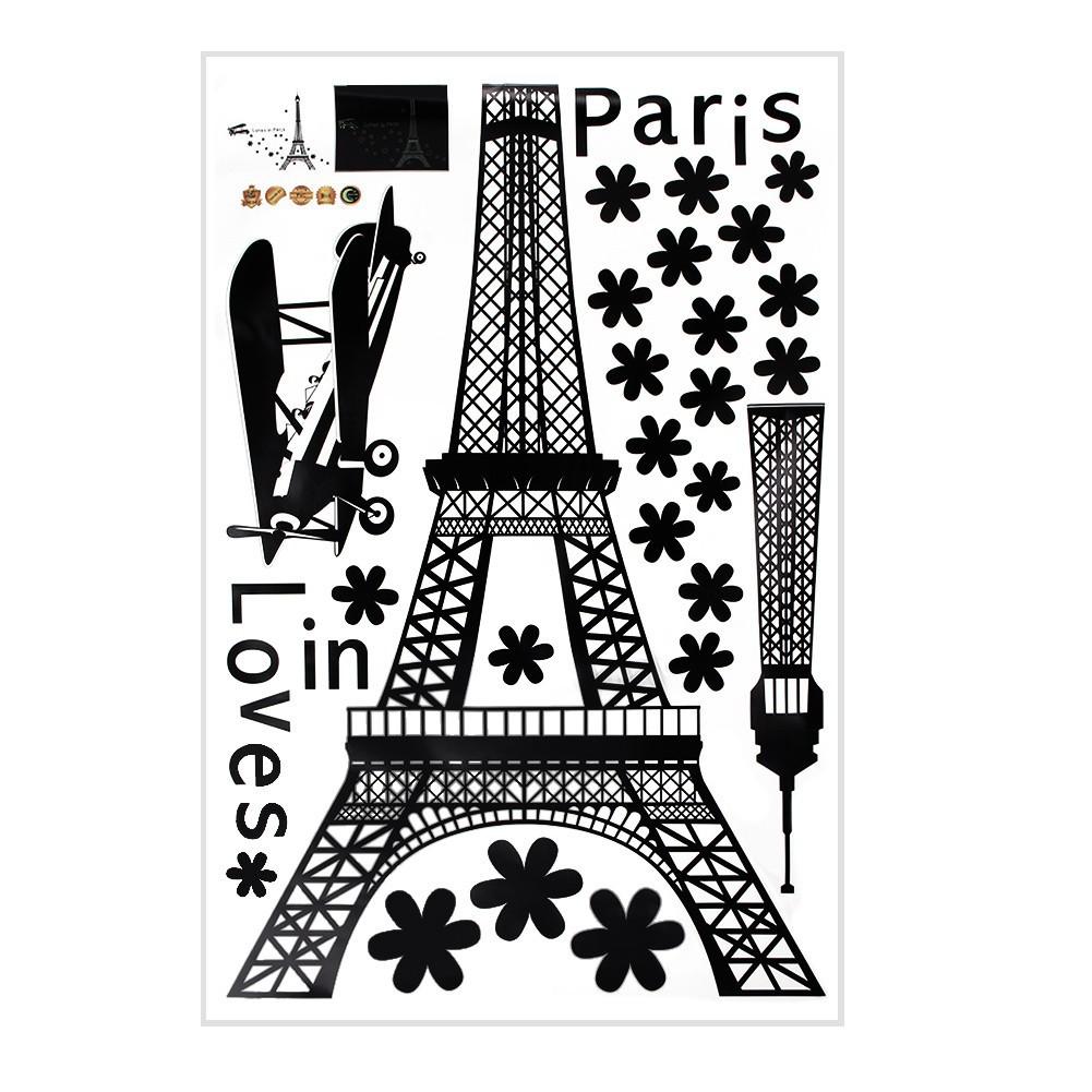 艾菲爾鐵塔愛巴黎牆貼夜光夜光藝術貼花DIY 家居裝飾