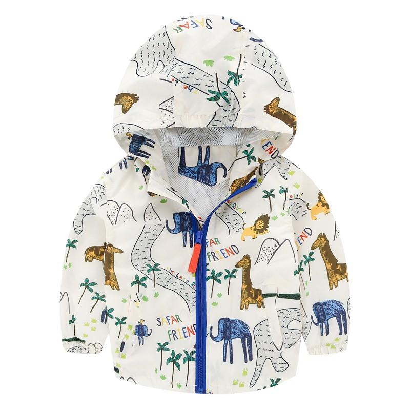 0A 小小怪小鋪男童沖鋒衣外套 寶寶連帽百搭薄夾克兒童防風衣