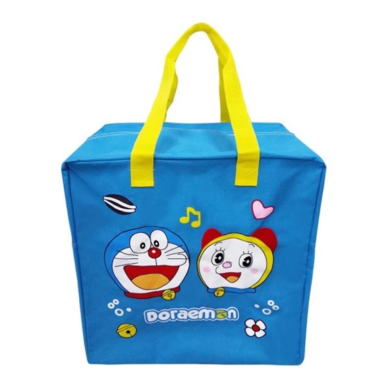 大容量卡通可愛米奇單哆啦A 夢Hello Kitty 史迪奇肩手提短途旅行袋收納袋行李包女