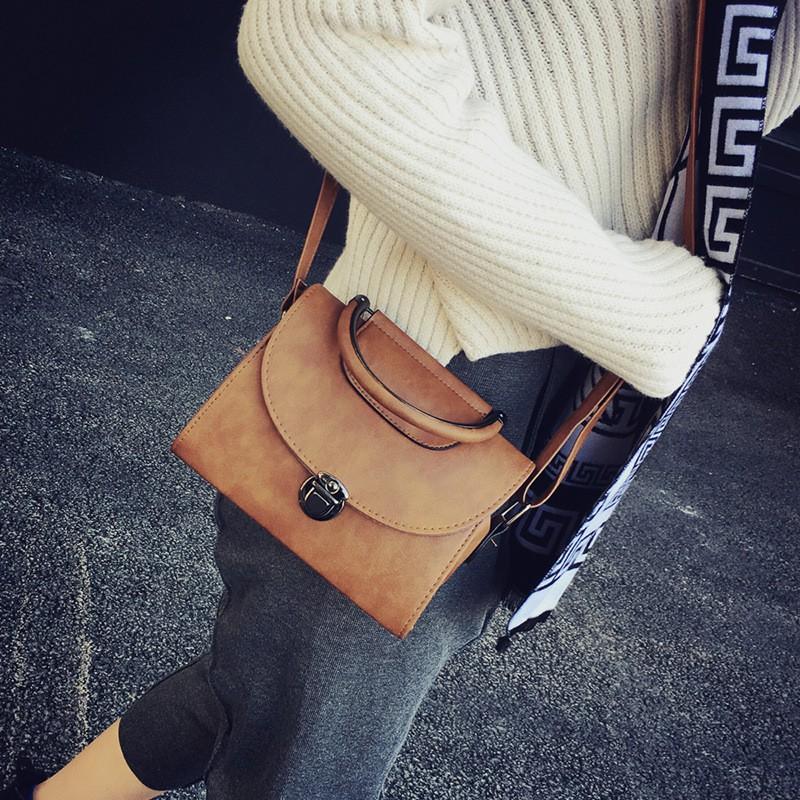 包包2016 女包 復古手提包 單肩斜挎包百搭定型小方包潮