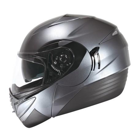 ZEUS ZS 3010 新鐵灰AE1 黑~可掀式安全帽~三段式可調內藏鏡片開關