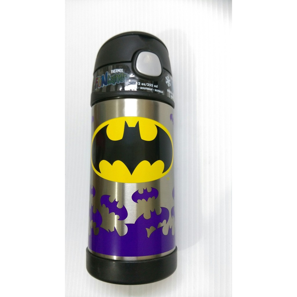 美國膳魔師Thermos 膳魔師蝙蝠俠兒童吸管保溫保冷水壺與美國同步 款上市保溫杯保冷杯水