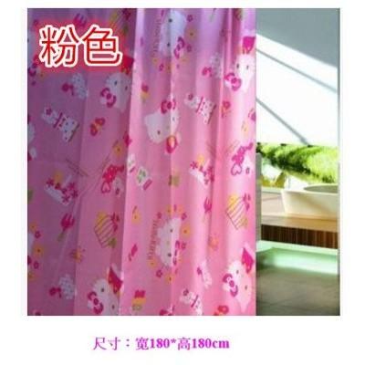 尺寸180 180cm 粉色hello kitty 高檔卡通浴簾浴室簾防水浴簾沐浴防水簾可