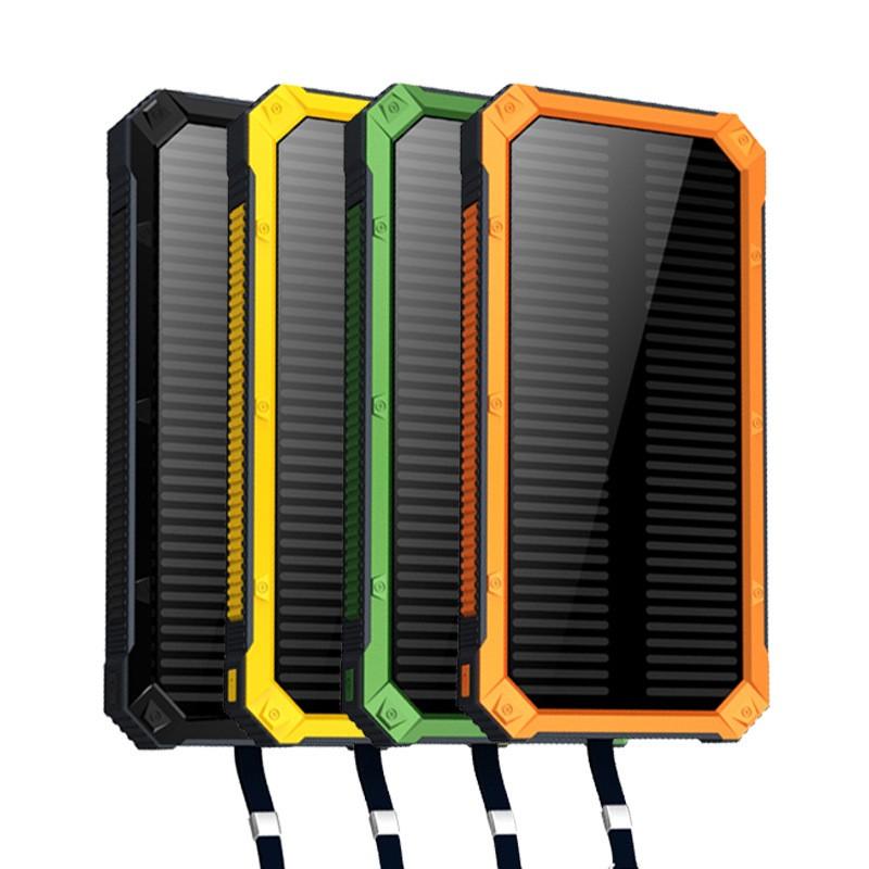 太陽能充電寶20000 毫安超大容量聚合物合金手機 移動電源便攜