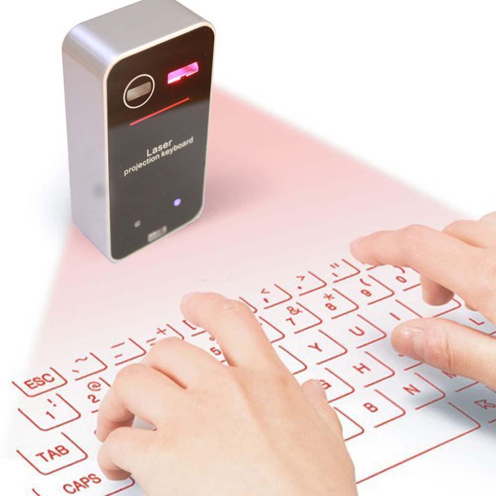 便攜式投影鐳射藍牙虛擬鍵盤 於智慧手機平板電腦