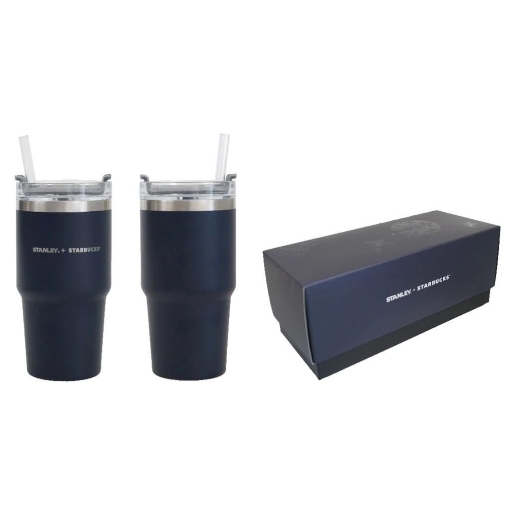 星巴克2020新款Stanley純黑系列父親節法壓酒壺吸管杯保溫杯禮盒 591ml