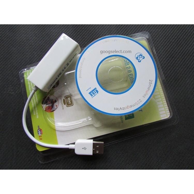 USB 2 0 網卡to 高速LAN Ethernet RJ 45 轉接器支援Mac Wi