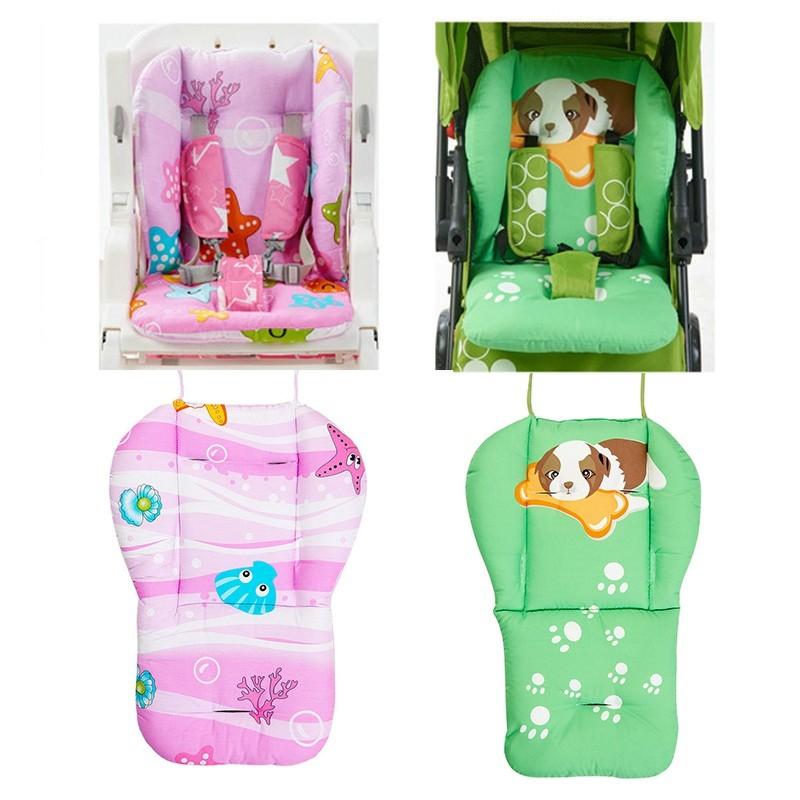 ~ 特惠~純棉嬰兒車坐墊餐椅墊童車棉墊手推車彩虹墊推車安全座椅推車墊VT0554