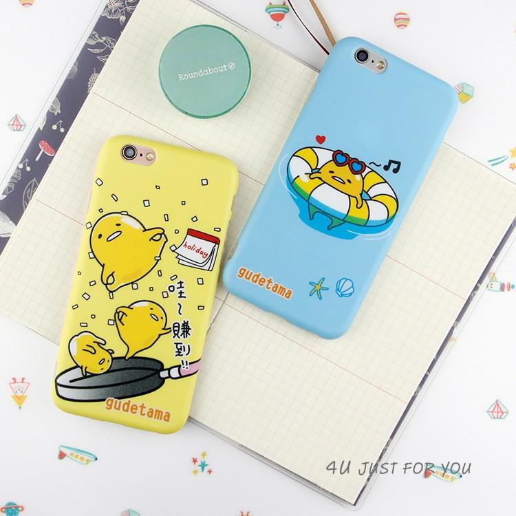 ~4U 手機殼~泳圈懶懶蛋黃哥軟殼iPhone  757