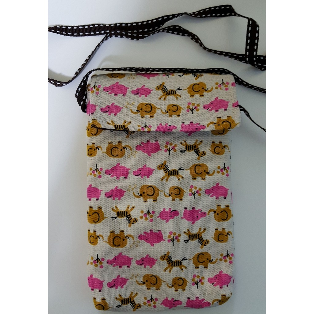 可愛動物圖案手機袋