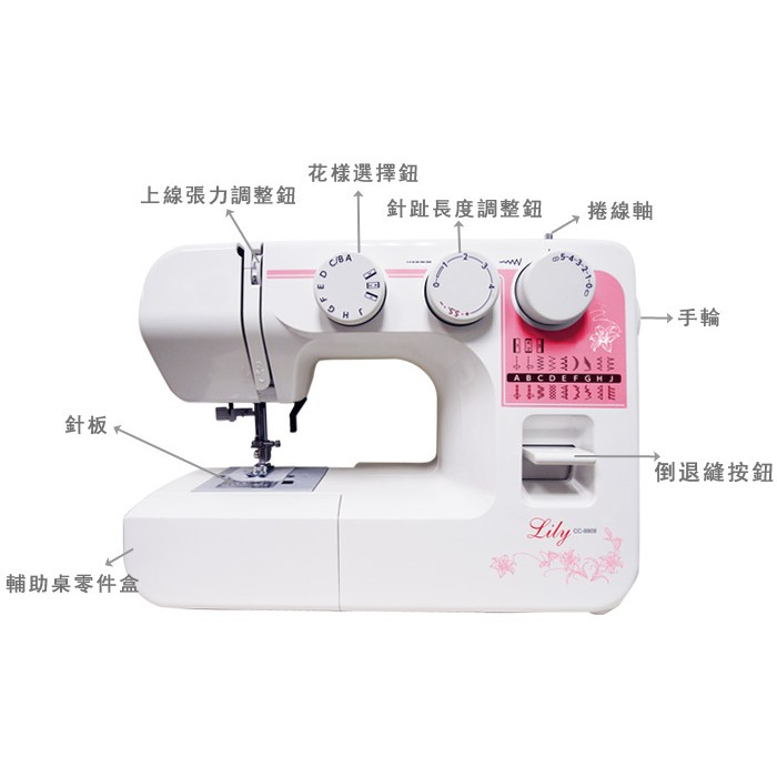 Brother 兄弟牌縫紉機,NCC CC 9909 百合縫紉機, 縫紉新手, 課程贈品