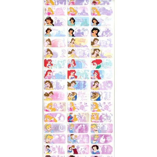 正品迪士尼 公主R 款中防水姓名貼尺寸3x1 3cm
