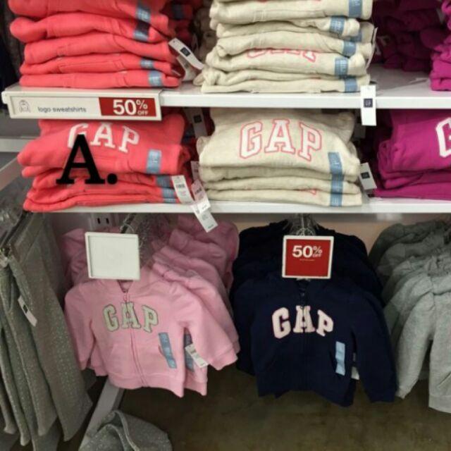 美國當季Gap logo 小童刷毛帽T 大童帽T 桃紅L 1 小童帽T5 歲紅色1
