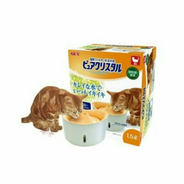 ~飛天貓~ GEX 貓咪 貓用循環式淨水器視窗型飲水器1 5 公升