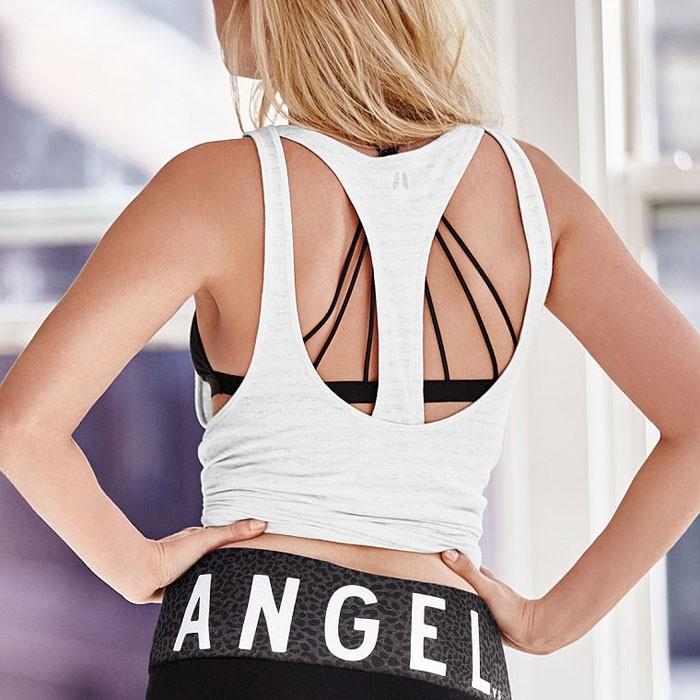 女子 跑步健身背心女高彈力修身排汗透氣速干美背健身T 恤上衣