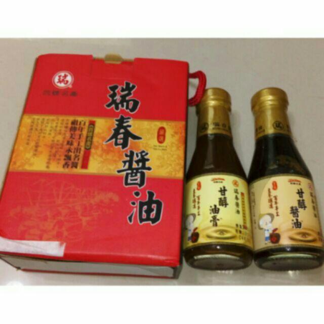 西螺名產瑞春醬油 醬油150ml 醬油膏150ml
