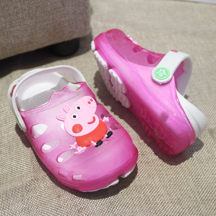 佩佩豬兒童拖鞋兒童凉拖鞋 女童男童小孩寶寶浴室內家居防滑卡通可愛涼拖 請留言