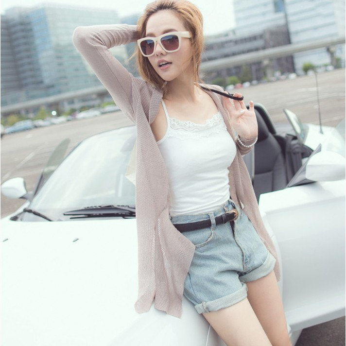 東京著衣綴蕾絲細肩帶棉質背心XS S M 5003385