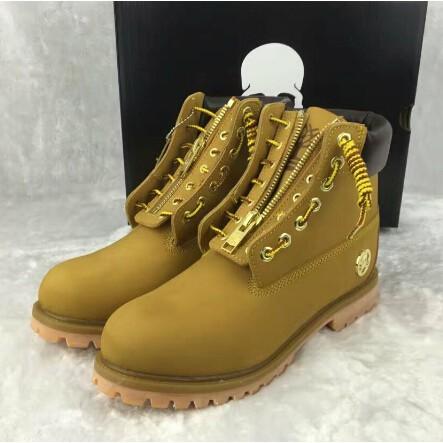 美國正品代購Timberland/添柏嵐 男鞋高幫靴護外靴 聯名款 35-45 MMJ小麥色骷髏頭