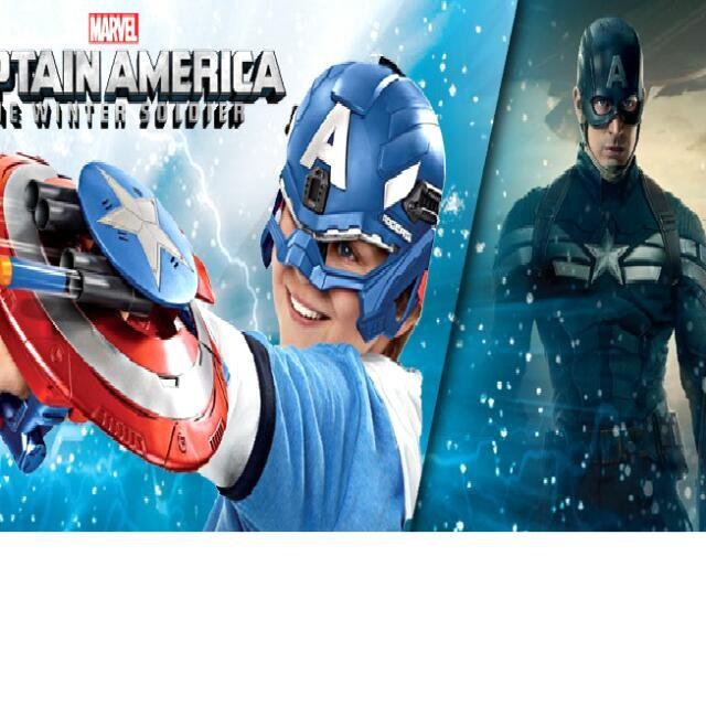 漫威電影復仇者聯盟美國隊長盾牌發射器玩具模型兒童射擊遊戲安全槍彈遊戲生日 兒童節
