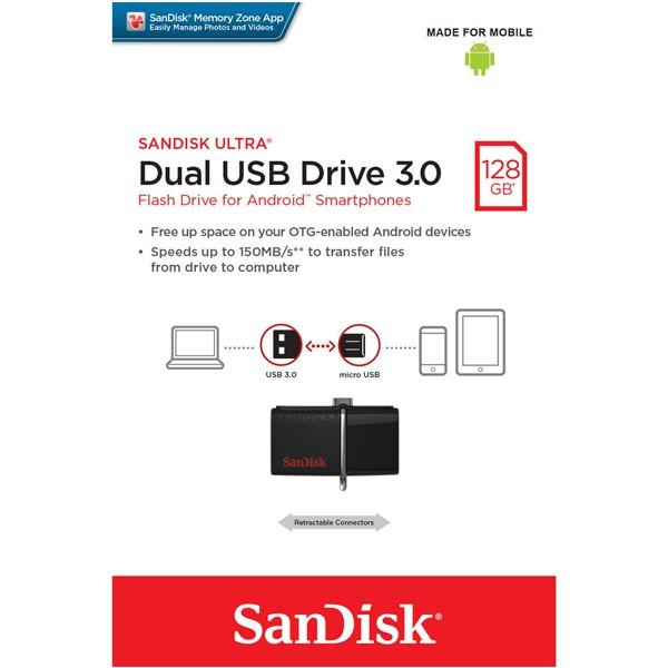 快樂屋SanDisk 128GB 128G Ultra Dual OTG 雙傳輸USB3
