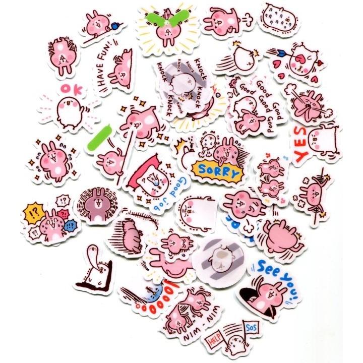 卡娜赫拉小兔子03 自制手帳相冊貼紙40 張468